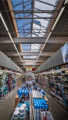 LAMILUX Continous Rooflight S - Obi hardware store Bamberg, Germany
